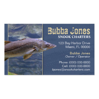 13 snook business cards and snook business card templates for Fishing charter business cards