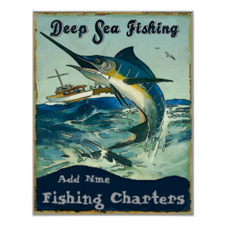Fishing Charters, add names Poster