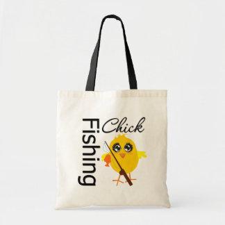 Fishing Chick Tote Bag