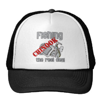 Fishing Chinook  Salmon The Reel Deal Fishing Trucker Hat