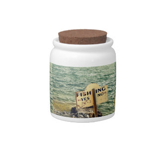 Fishing Choices Candy Jar