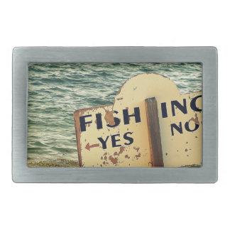 Fishing Choices Rectangular Belt Buckle