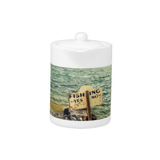 Fishing Choices Teapot