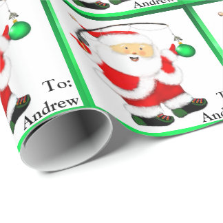 Fishing Christmas Wrapping Paper