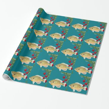 Christmas Themed Fishing Christmas Wrapping Paper