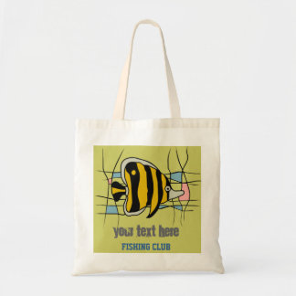 Fishing Club Template Tote Bags