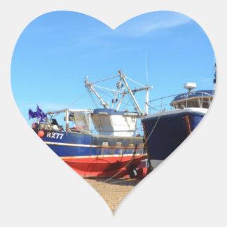 Fishing Community At Hastings Heart Sticker