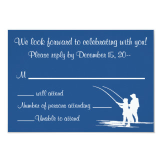 Fishing Couple Wedding Invitation Reply RSVP Cards