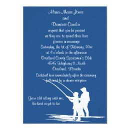 Fishing Couple Wedding Invitations : CUSTOMIZE