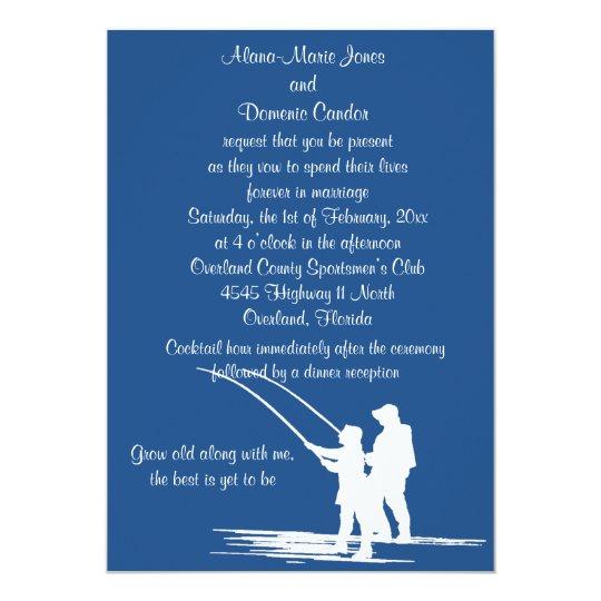 Fishing Wedding Invitations Customize