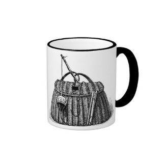 Fishing Creel Basket and Gear Mug