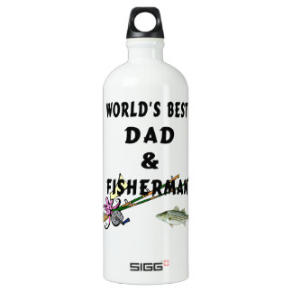 Fishing Dad Aluminum Water Bottle