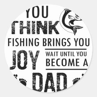 Fishing Dad Classic Round Sticker