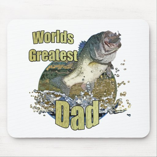 Fishing dad mouse pad