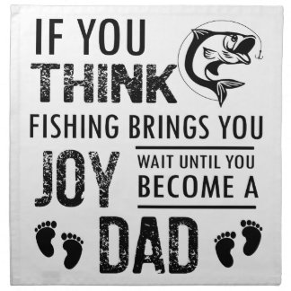 Fishing Dad Napkin