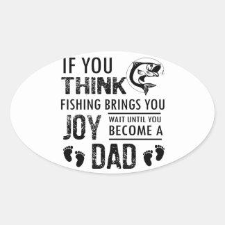 Fishing Dad Oval Sticker