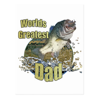 Fishing Dad Postcard