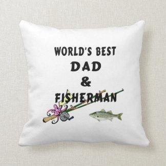 Fishing Dad Throw Pillow