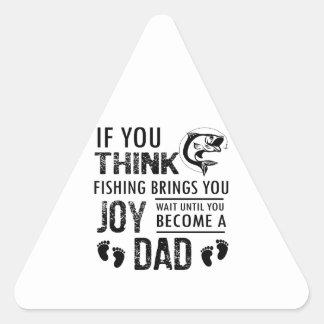 Fishing Dad Triangle Sticker