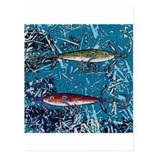 fishing day postcard