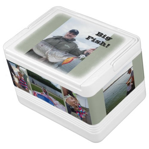 Fishing Derby Father's Day Gift YOUR PHOTOS of DAD Cooler