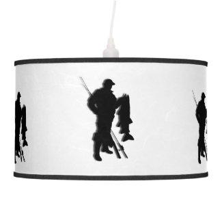 Fishing Design White Shade Lamp