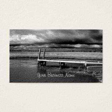 Professional Business Fishing Dock Photo Business Cards