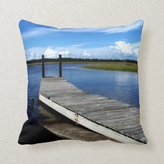 Fishing Dock Photograph Pillow