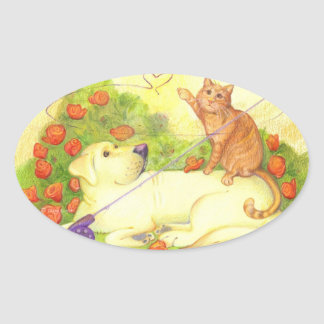 Fishing Dog and Cat / Stickers