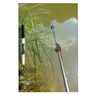 Fishing Dragonfly Dry Erase Board