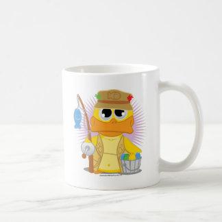 Fishing Duck Classic White Coffee Mug