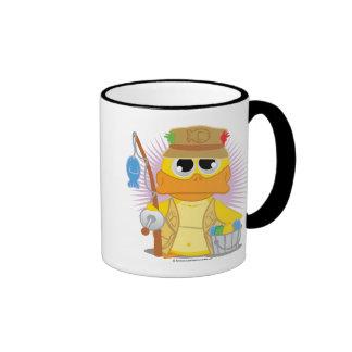 Fishing Duck Ringer Coffee Mug