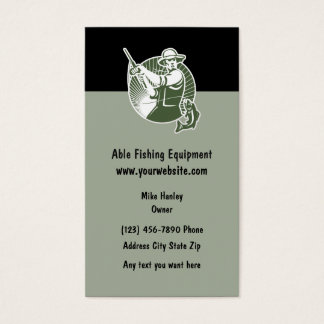 Fishing Equipment Theme Business Card