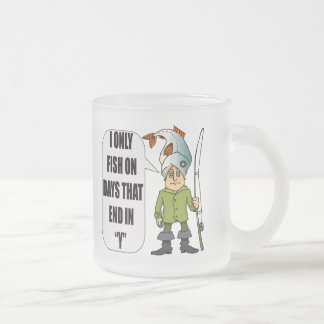 Fishing Everday T-shirts and Gifts Frosted Glass Coffee Mug