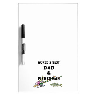 Fishing Father Best Dad Dry Erase Board