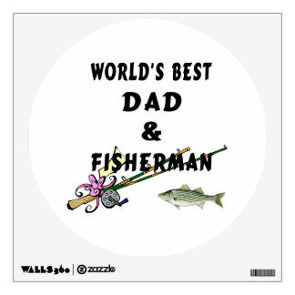 Fishing Father Best Dad Wall Sticker
