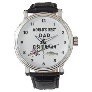 Fishing Father Best Dad Wristwatch