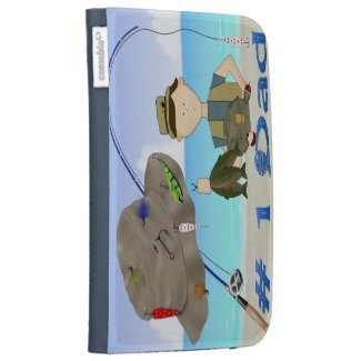 Fishing Father's Day Caseable Kindle Folio Kindle 3G Cases