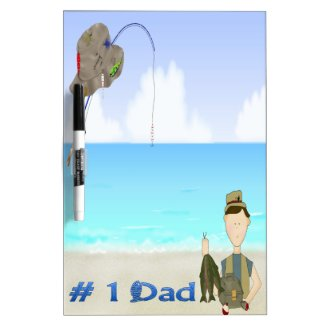 Fishing Father's Day Dry Erase Board