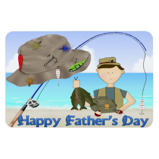 Fishing Father's Day Flexible Magnets