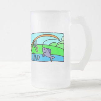 Fishing Fathers Day Frosted Beer Mug