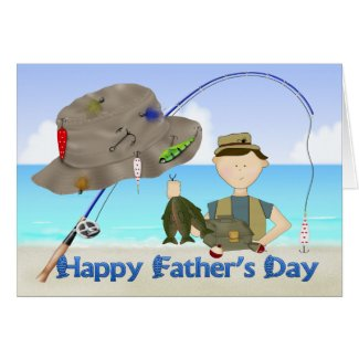 Fishing Father's Day Greeting Card