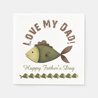 Fishing Father's Day Paper Napkins