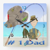 Fishing Father's Day Wall Clock