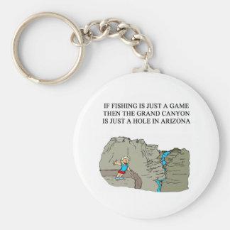FISHING fidherman joke Basic Round Button Keychain