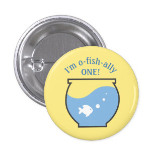 Fishing First Birthday Button for Guest of Honor