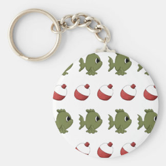 Fishing Fish Bobbers Basic Round Button Keychain