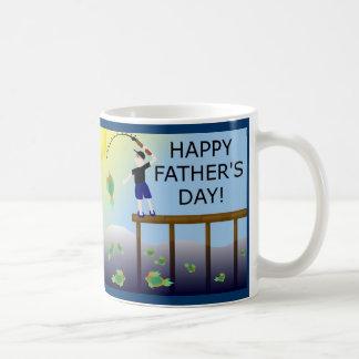 fishing fish father's day father dad coffee mug