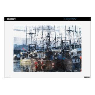 "Fishing Fleet & Marina Fishermans Gift Decals For 15"" Laptops"