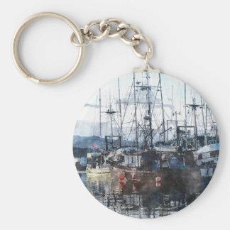 Fishing Fleet & Marina Fishermans Gift Keychain